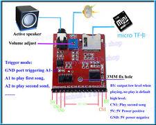 DC5V1A MP3 Voice Module SD/TF Voice Broadcast Trigger Player+Speaker for MCU SCM