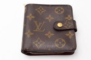 F s authentic louis vuitton monogram compact zip wallet for Louis vuitton bin bags