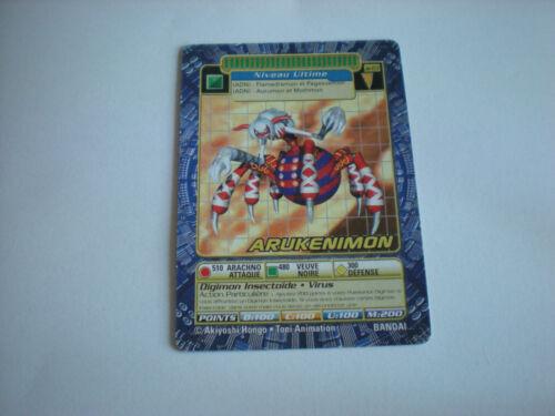Carte Digimon Arukenimon !!!
