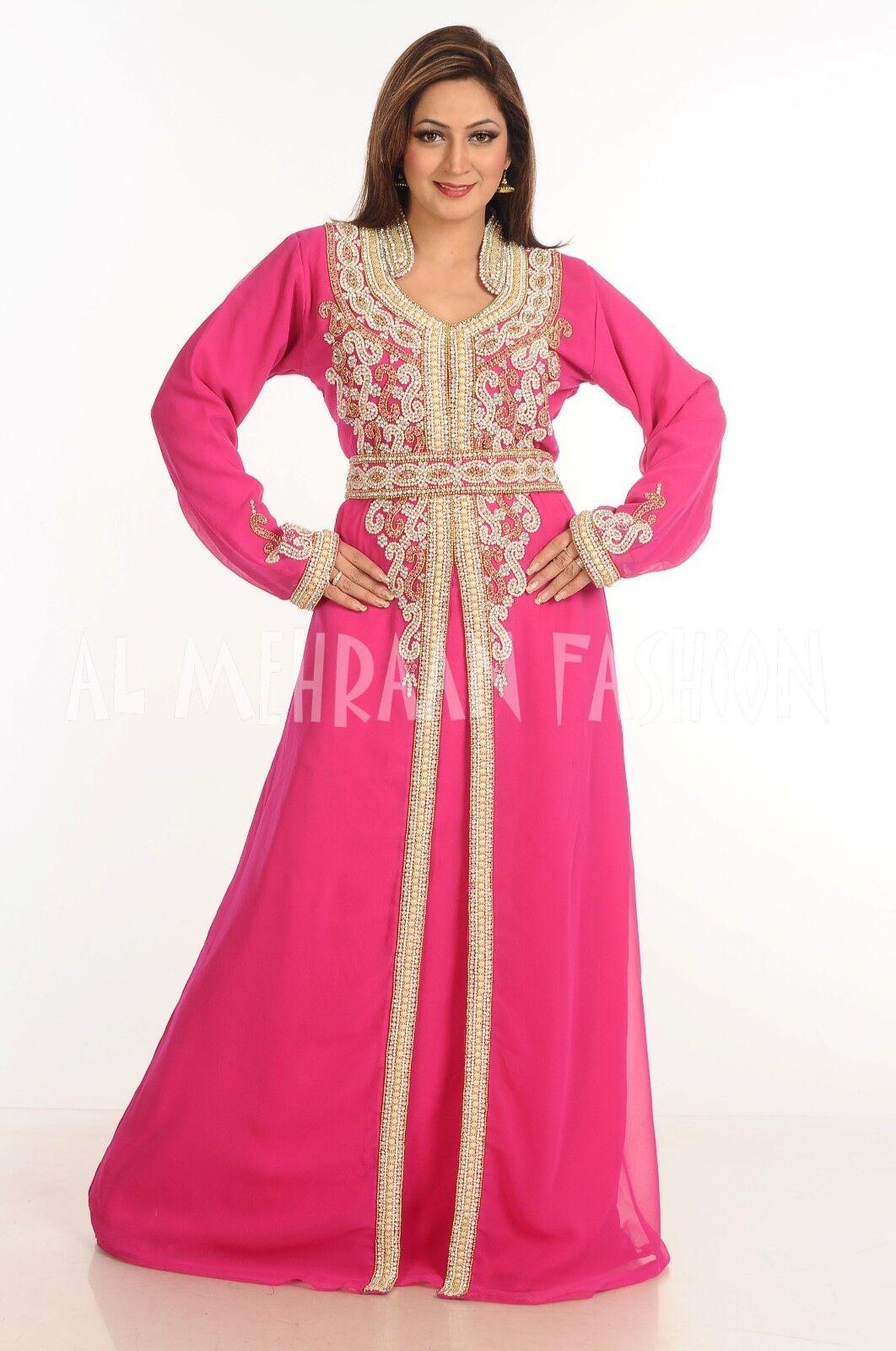DUBAI MgoldCCAN ISLAMIC ABAYA JALABIYA JALABIYA JALABIYA JILBAB WEDDING GOWN FANCY MAXI DRESS 115 5f4432