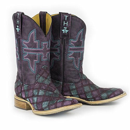 Tin Haul Boots Tin Haul Ladies Chevron Square Toe  Boots  simple and generous design