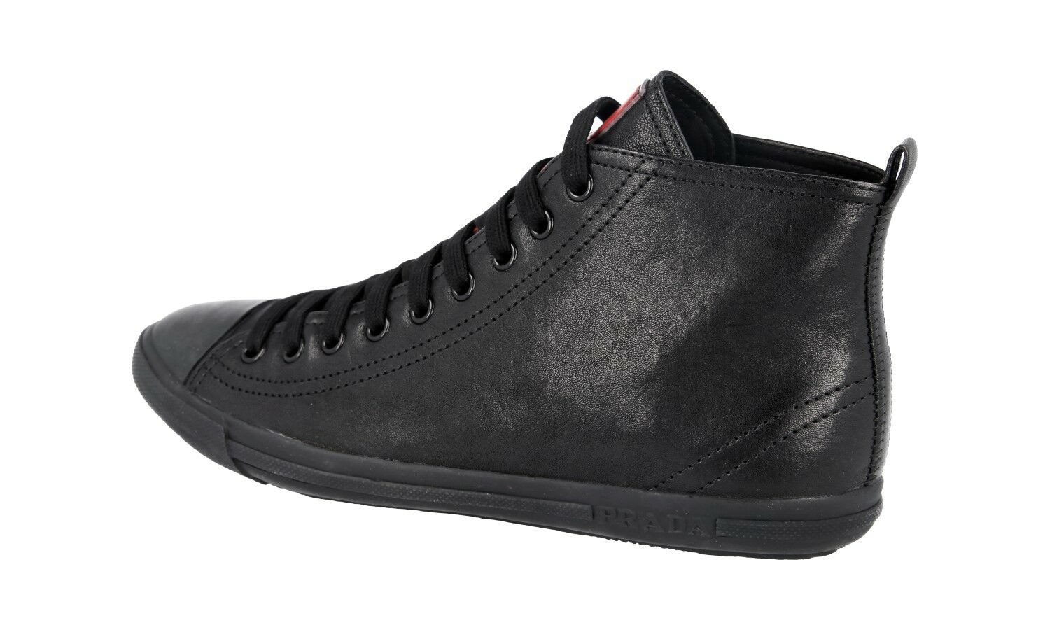 AUTH AUTH AUTH LUXURY PRADA HIGH TOP SNEAKERS SHOES 3T5731 BLACK US 8 EU 38 38,5 f32aad