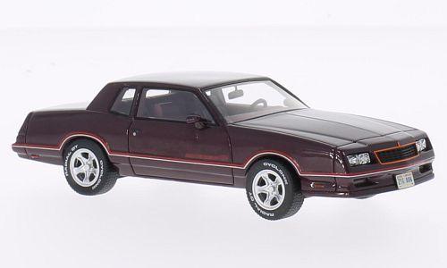 Chevrolet monte - carlo - ss  dark rot metallic  1986 (neo - 1 43   44806)