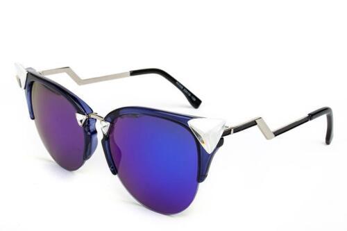 Mirrored Lenses Iridia Brand New Women Sunglasses Designer Cat Eye Retro Vintage