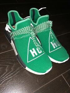 huge discount fc8b3 f9ff7 Details about Adidas NMD Pharrell Human Race Green Hu Barely Used 100%  AUTHENTIC Size 11