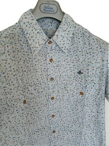 Mens-chic-MAN-by-VIVIENNE-WESTWOOD-short-sleeve-shirt-size-III-medium-RRP-260