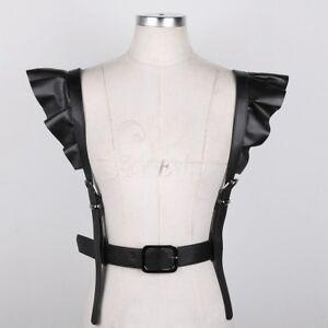 Image is loading Fashion-Harajuku-Leather-Punk-Body-Chest-Harness-Vest- 0f9279075b9