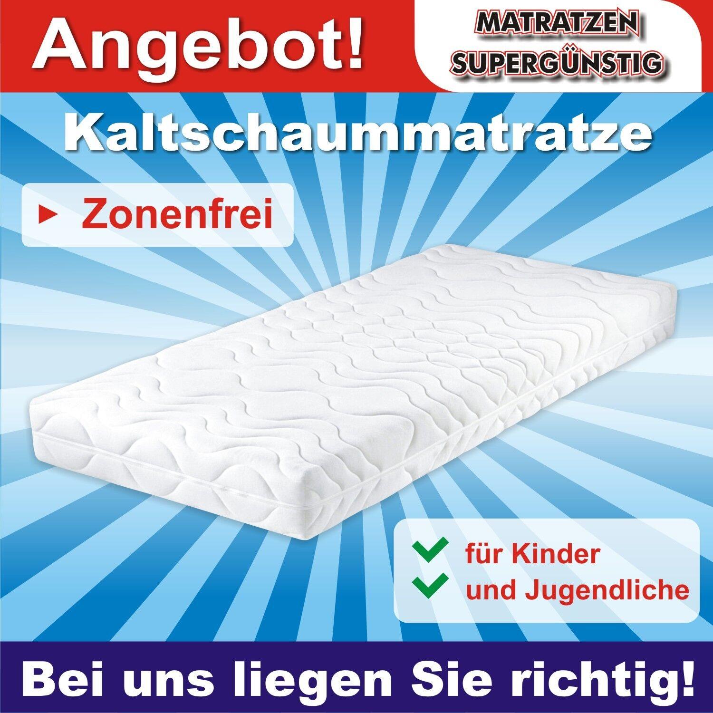 Zonenfreie Jugendmatratze  Justus  90x200x14cm für alle Köpergrößen da Zonenfrei