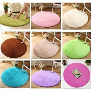 Round-Shaggy-Fluffy-Rugs-Anti-Skid-Dining-Room-Carpet-Home-Bedroom-Floor-Mat-New