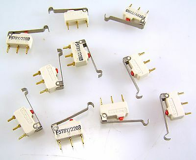F5T8Y/2288 Microswitch Lever Action Push Button PTCO 10 pieces MBE002a