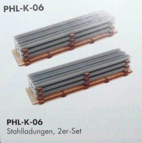 HS  Proses PHL-K-06 Bausatz Wagenladung Stahlladungen 2 er Set