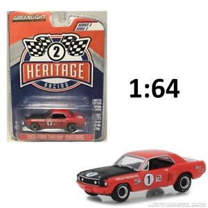 GREENLIGHT-13220-F-1968-FORD-MUSTANG-SHELBY-TA-1-TITUS-BUCKNUM-RED-CAR-1-64