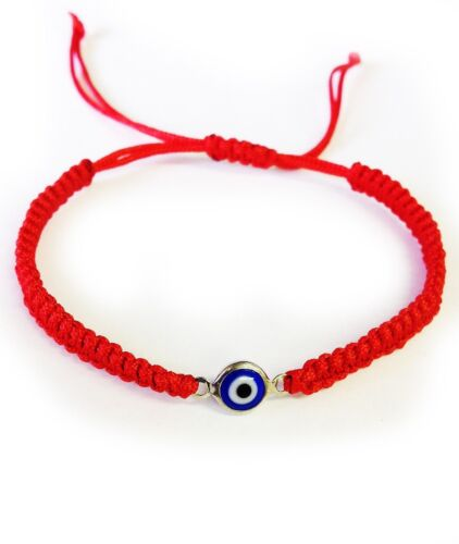 Evil Eye Macrame Bracelet Classic Red Rope /& Silver Housing