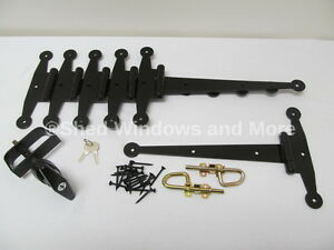 Image Is Loading Shed Door Hardware Kit W Strap Hinges 12