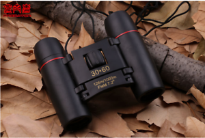 Outdoor Travel 30 x 60 Folding Zoom Day Night Vision Binoculars Telescope + Bag