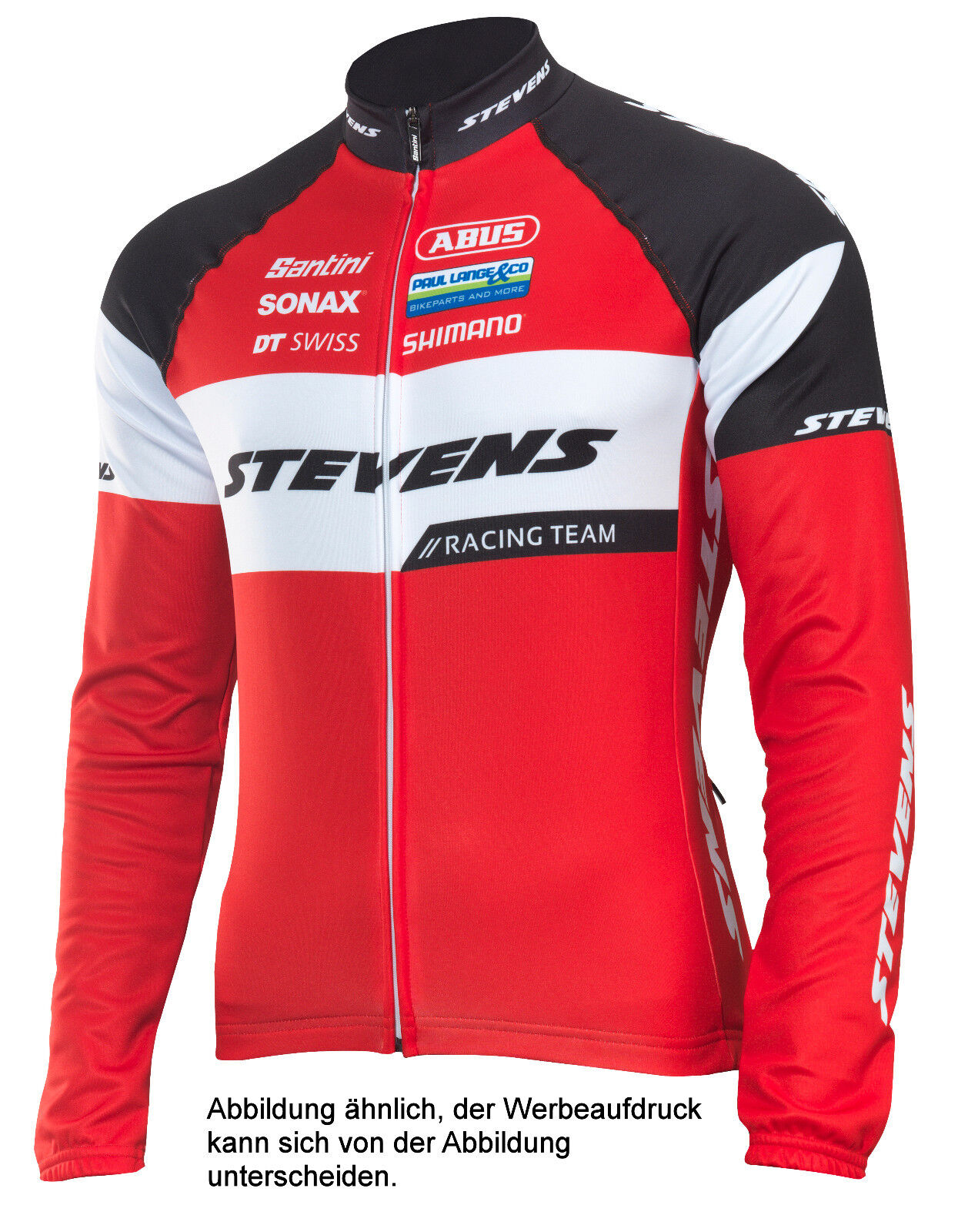 STEVENS Wintertrikot langarm Racing Team 2.0 Rot Schwarz Weiss Fahrrad Gr. XXL
