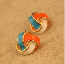 NiX 1446 New Fashion Jewelry Color Stripe Earrings Women Girl Star Shape Earring