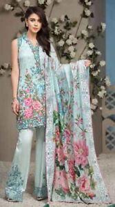 44f0de20a1 Anaya Original- Latest Unstitched Lawn Suit & Net Dupatta- Pakistani ...