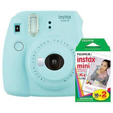 Fujifilm Instax Mini 9 Instant Film Camera (Ice Blue) with Film Bundle Kit
