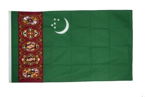 Turkmenistan Hissflagge turkmenische Fahnen Flaggen 60x90cm