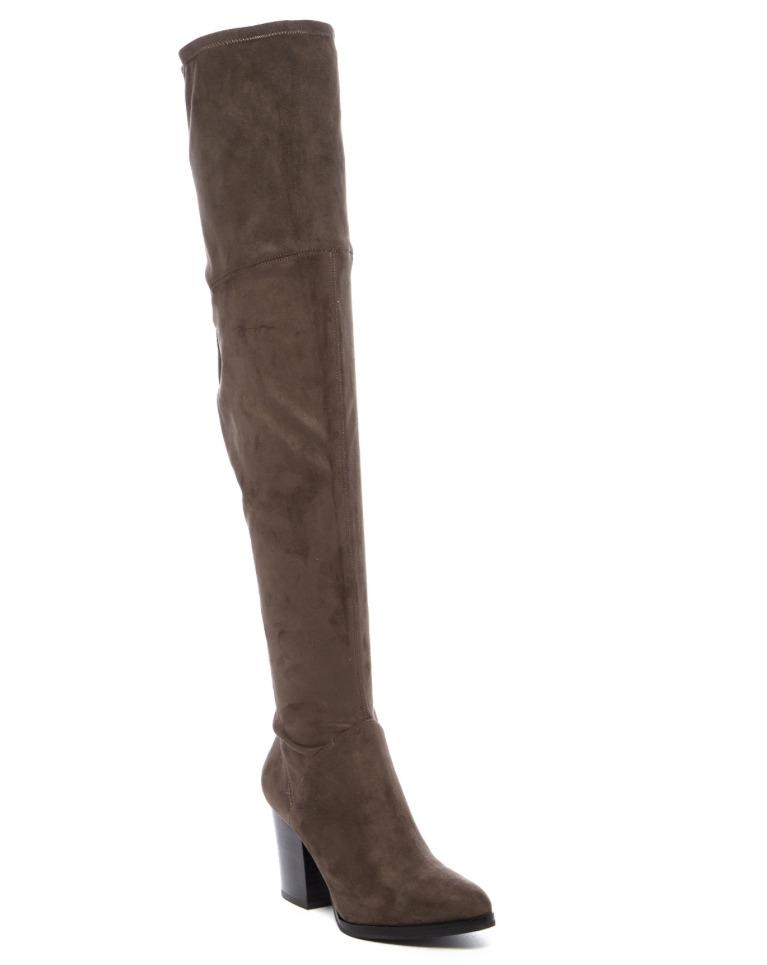 Marc Fisher Women's LTD Arrine Over Knee Dark Grey Suede Boot Sz 9.5 2879 *