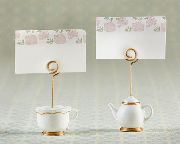 Lot de 144 heure du thé Whimsy Bridal Shower Mariage Place Porte-cartes Faveurs