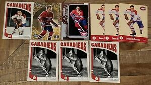Montreal-Canadiens-Lot-of-9-Cards-Elmer-Lach-Beliveau-Larry-Robinson