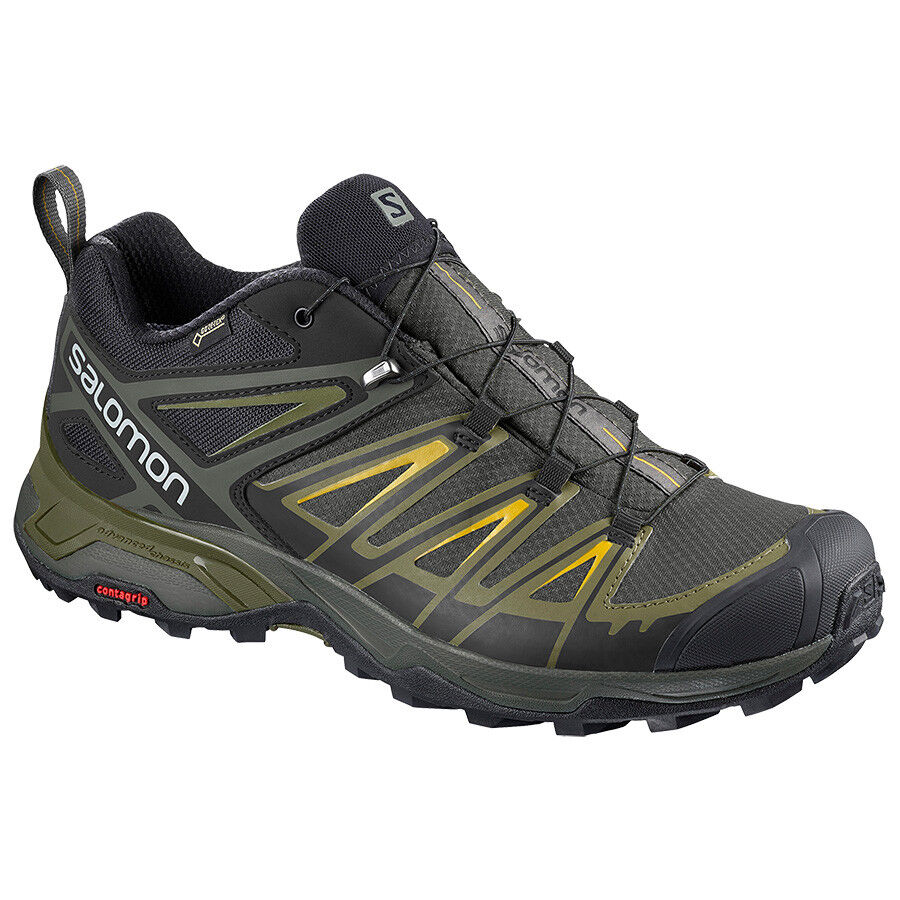schuhe Escursionimo Mountain Trail SALOMON X ULTRA 3 GTX Castor grau Beluga