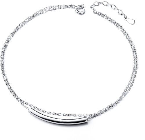 S925 Sterling Silver Anklet For Women Adjustable Foot Bracelet for Women Girls