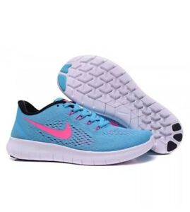 f8ccc02a4521 New  Nike Free RN Women s Running Shoes Size 7.5 Gamma Blue BLK-PNK ...