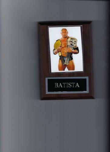 BATISTA PLAQUE WRESTLING WWE WITH BELT