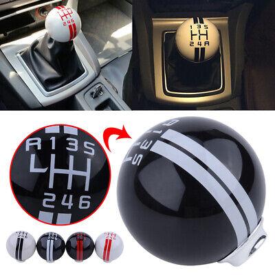 Universal Carbon Fiber Car Manual Gear Shift Knob Shifter Lever 5//6 Speed UK