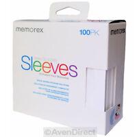 100 Memorex White Cd Dvd Paper Sleeves Window Flap [free Fast Shipping]