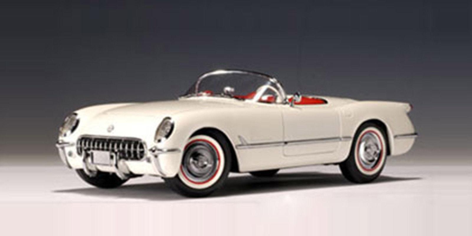 18 autoart chevrolet corvette 1953 (polo weiß)