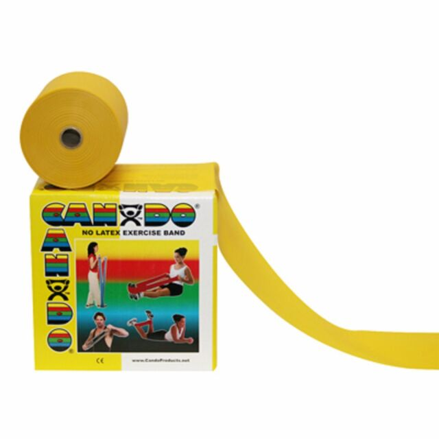 Latex Free Exercise Band- 50 yard roll-Yellow-x-light-1370300 NEW