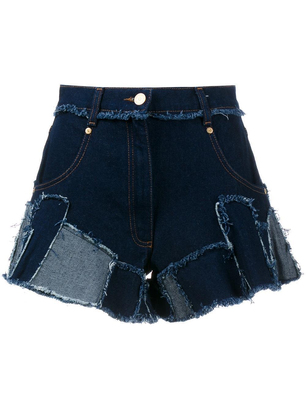 Natasha ZINKO ZINKO ZINKO Patchwork Pantaloncini Di Jeans 244193