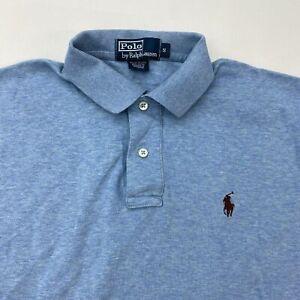 Polo Ralph Lauren Polo Shirt Men's Small Short Sleeve Blue High Low Hem Cotton