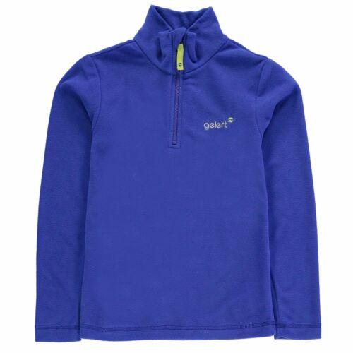 Boys Quarter Zip Fleece Top Gelert Atlantis Sweatshirt Jumper Long Sleeve New