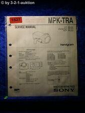 Sony Service Manual MPK TRA Handycam Marine Pack (#1527)