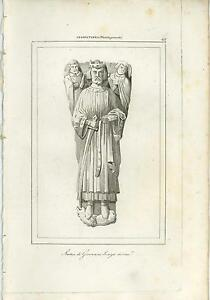 ANTIQUE-STATUE-OF-JOHN-LACKLAND-KING-OF-ENGLAND-COPPER-PLATE-ENGRAVING-OLD-PRINT