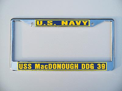 USS MacDONOUGH DDG 39 DLG 8 License Plate Frame USN Military U S Navy