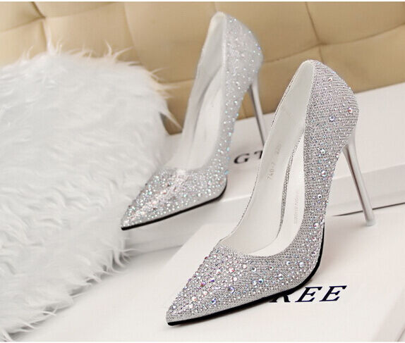Décollete spillo   decolte  donna tacco spillo Décollete 10,5 cm stiletto moda argento 8616 94c352