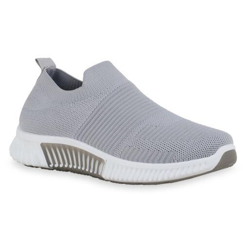 Damen Sportschuhe Slip Ons Profil-Sohle Sportliche Schuhe 834780 Trendy Neu