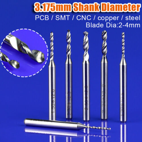 0.2-2.5mm PCB Milling Drill Bit 3.175mm SHK Tungsten Carbide Precision CNC Metal