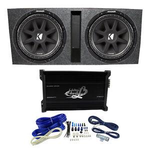 kicker 15 600w dual loaded subwoofer box w 2000w 4 ch. Black Bedroom Furniture Sets. Home Design Ideas