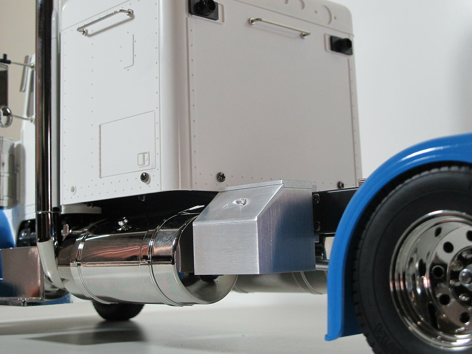 Simulate Aluminum Side Storage Tool Box Rail Mount Tamiya 1 14 King Grand Hauler