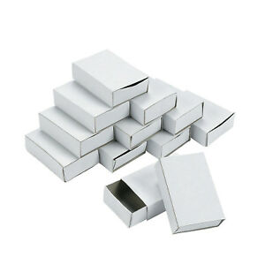 SET-50-PLAIN-WHITE-EMPTY-MATCHBOXES-WITH-DRAWER-FOR-CRAFT-FAVOURS-TRINKETS-7080