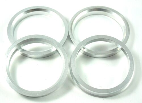 57,1 mm 4 Zentrierringe aus Alu  Aluminium in Silber 74,1 mm