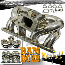 B-SERIES B16/B17/B18 EK EG DC RAM HORN STAINLESS T3/T04E TURBO CHARGER MANIFOLD