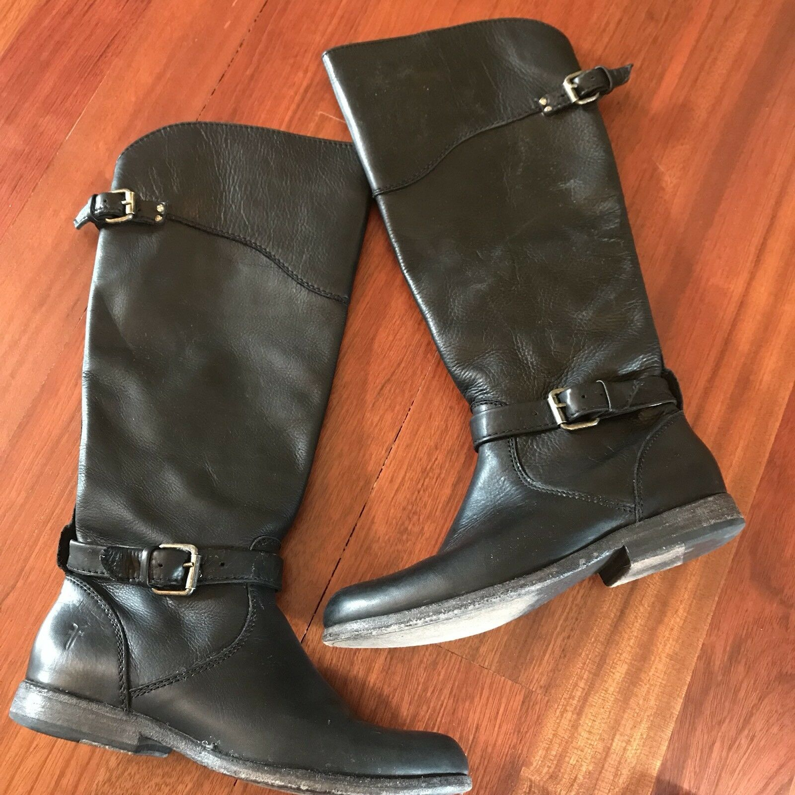 Frye Black Leather Boots 7